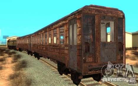 Поезд из игры Stalker для GTA San Andreas вид сзади слева
