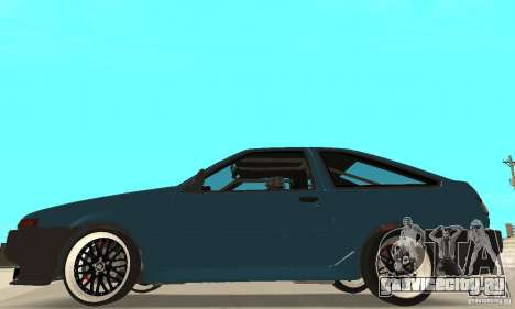 Toyota Sprinter для GTA San Andreas вид сзади слева