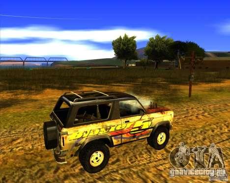 Blazer XL FlatOut2 для GTA San Andreas вид изнутри