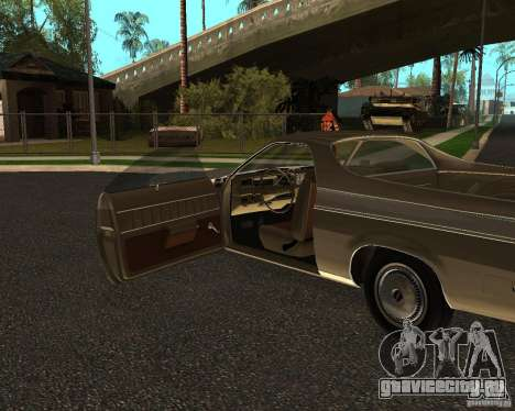 Chevrolet El Camino 1973 для GTA San Andreas вид справа