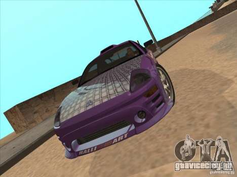 Mitsubishi Eclipse Spyder 2FAST2FURIOUS для GTA San Andreas вид справа