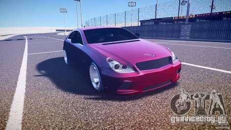 Mercedes Benz CLS Light Tuning v1.0 Beta для GTA 4 вид сзади
