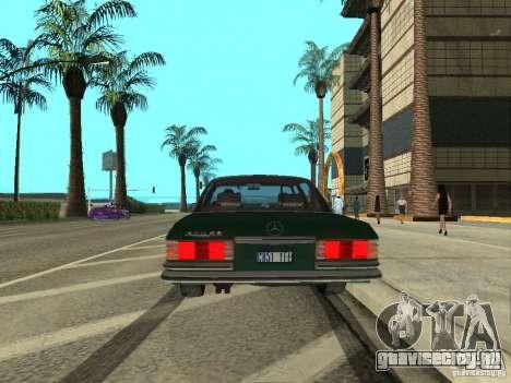 Mercedes - Benz 280SE для GTA San Andreas вид справа