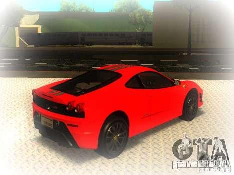 Ferrari 430 Scuderia TT Black Revel для GTA San Andreas вид сзади слева