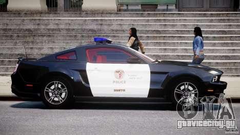Ford Mustang V6 2010 Police v1.0 для GTA 4 вид изнутри