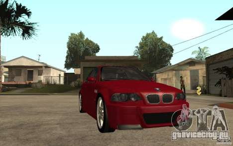 BMW M3 CSL для GTA San Andreas вид сзади