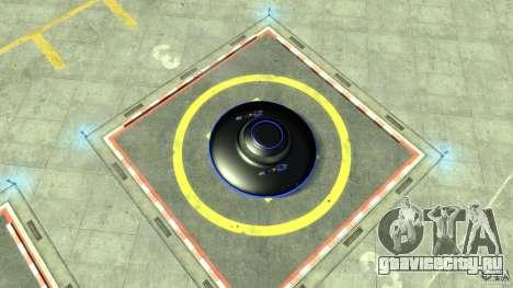 UFO neon ufo blue для GTA 4 вид справа