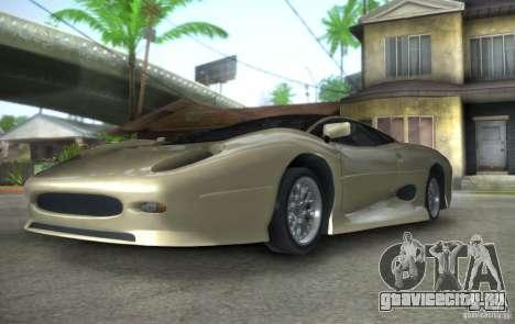 Jaguar XJ 220 Black Rivel для GTA San Andreas вид сзади