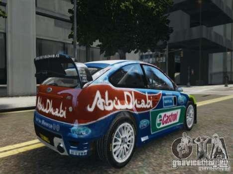 Ford Focus RS WRC для GTA 4 вид слева