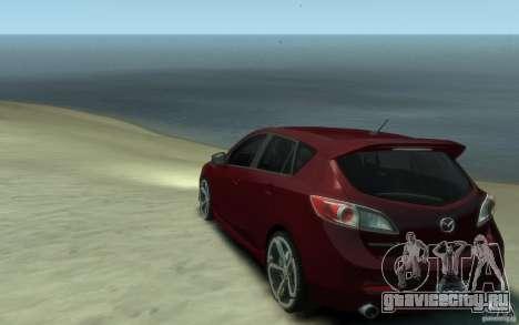 Mazda 3 MPS 2010 для GTA 4 вид сзади слева