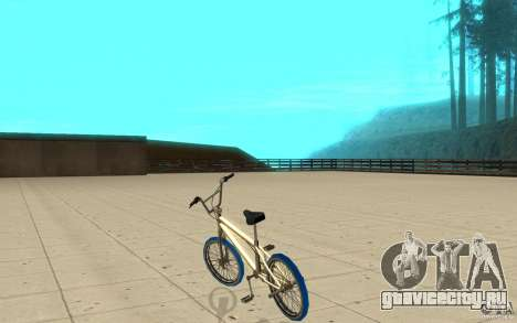 Zeros BMX BLUE tires для GTA San Andreas вид сзади слева