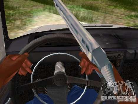 АЗЛК-412 для GTA San Andreas вид изнутри
