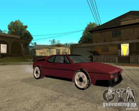 BMW M1 для GTA San Andreas вид справа