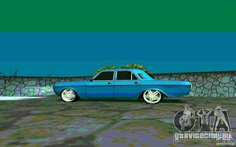ГАЗ 24 v1.0 для GTA San Andreas вид сзади