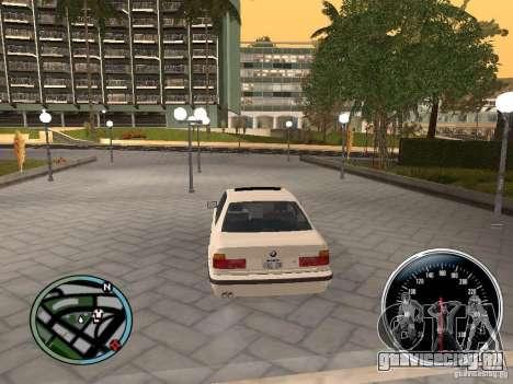 BMW E34 540i для GTA San Andreas вид сзади слева