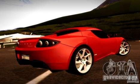 Tesla Roadster Sport для GTA San Andreas вид справа