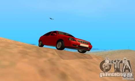 Лада Приора хэтчбэк для GTA San Andreas вид сзади слева