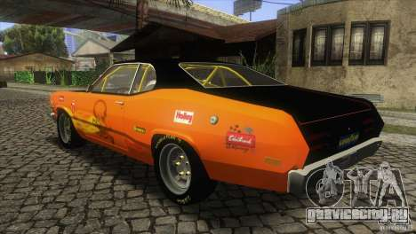 Plymouth Duster 440 для GTA San Andreas вид сзади слева