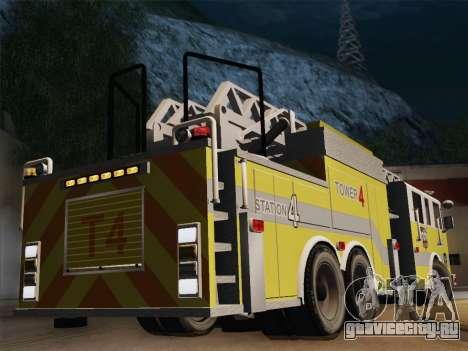 Pierce Arrow XT BCFD Tower Ladder 4 для GTA San Andreas вид справа