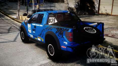 Ford F150 Racing Raptor XT 2011 для GTA 4 вид сзади слева