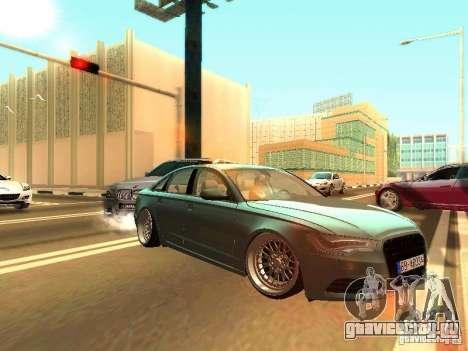 Audi A6 Stanced для GTA San Andreas вид слева