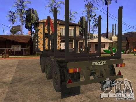 Прицеп МАЗ 99864 для GTA San Andreas вид изнутри