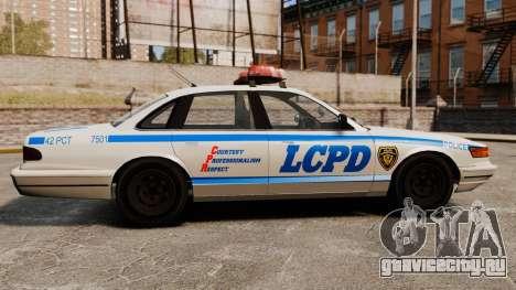 Новый Police Cruiser для GTA 4 вид слева
