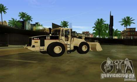 Бульдозер CAT для GTA San Andreas вид слева