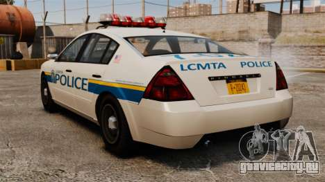 Полицейский Pinnacle ELS для GTA 4 вид сзади слева