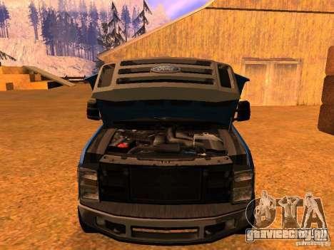 Ford F350 для GTA San Andreas вид справа