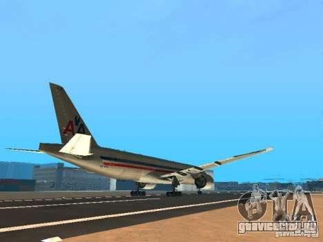 Boeing 777-200 American Airlines для GTA San Andreas вид справа