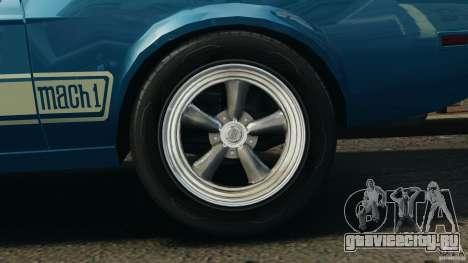 Ford Mustang Mach I 1973 для GTA 4 вид сзади