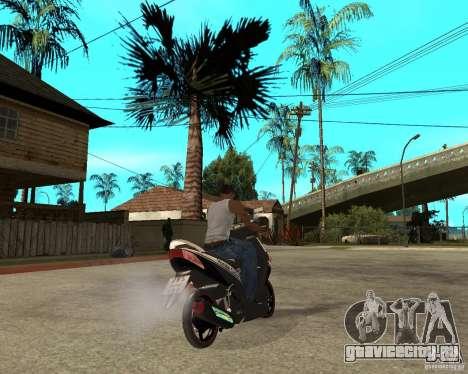 Honda Click для GTA San Andreas вид сзади слева