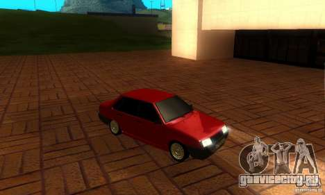 ВАЗ 21099 PROTOCOL для GTA San Andreas вид изнутри