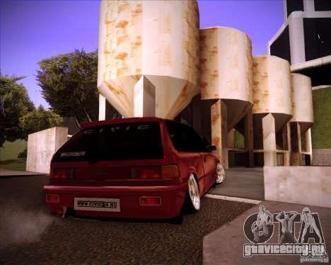 Honda Civic EF9 Hatch Stock для GTA San Andreas вид сзади слева