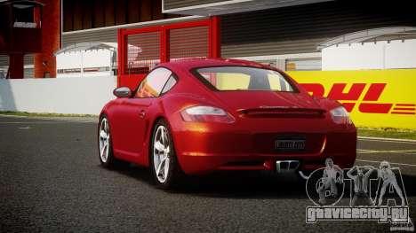 Porsche Cayman S v2 для GTA 4 вид сзади слева