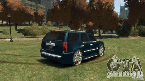 Cadillac Escalade Dub для GTA 4 вид слева