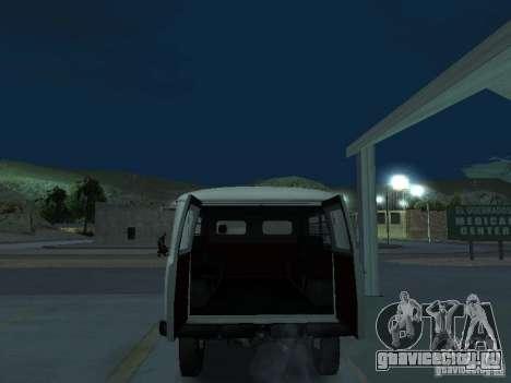 УАЗ 451А для GTA San Andreas вид сзади