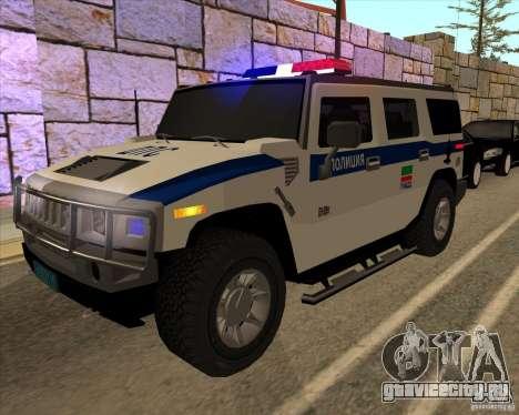 Hummer H2 ДПС для GTA San Andreas вид сбоку