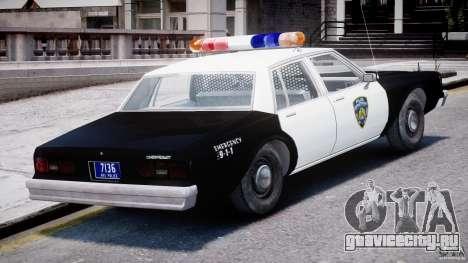 Chevrolet Impala Police 1983 [Final] для GTA 4 вид снизу