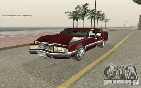 Chrysler Dynasty для GTA San Andreas вид изнутри