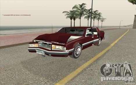 Chrysler Dynasty для GTA San Andreas вид изнутри