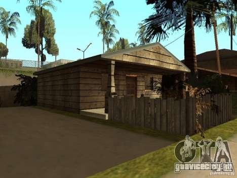 Ретекстур домов на Groove Street для GTA San Andreas третий скриншот