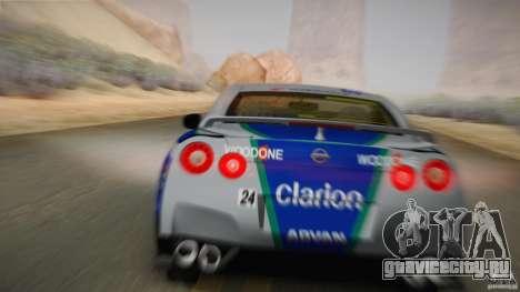 Nissan GTR R35 Tunable v2 для GTA San Andreas вид сзади