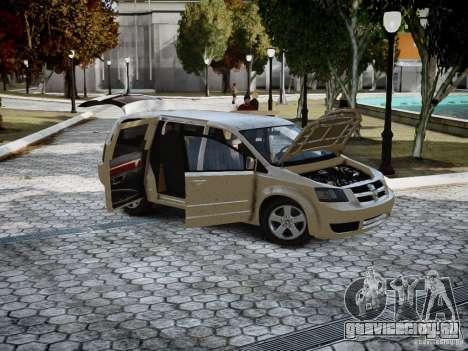 Dodge Grand Caravan SXT 2008 для GTA 4 вид слева
