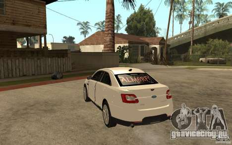 Ford Taurus 2010 для GTA San Andreas вид сзади слева