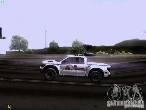 Ford Raptor Royal Canadian Mountain Police для GTA San Andreas вид изнутри