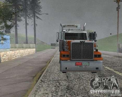 Western Star 4900EX v 0.1 для GTA San Andreas вид сзади слева