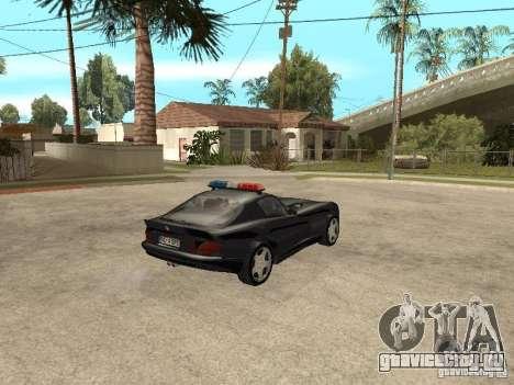 Dodge Viper Police для GTA San Andreas вид сзади слева