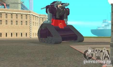 Танк RX-75-4 Guntank для GTA San Andreas вид сзади слева